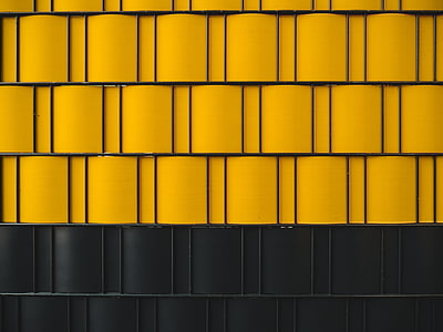yellow, black, wall, design, architecture