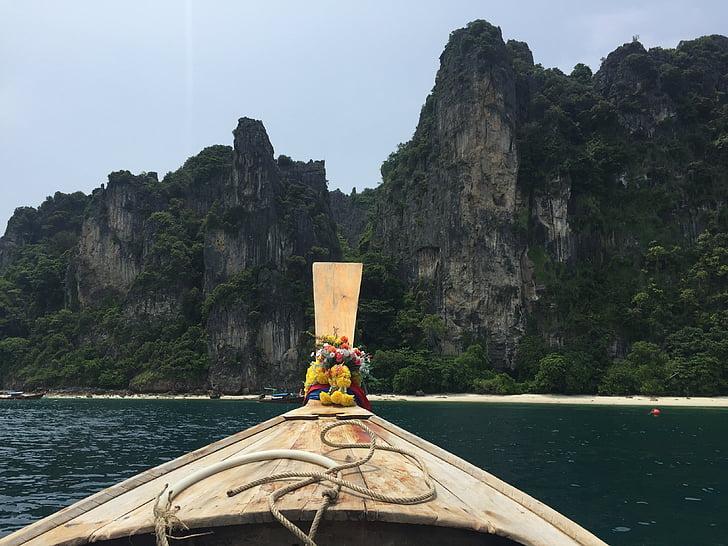 Tailàndia, Mar, vaixell, Illes de phi Phi, viatges, paisatge, l'estiu