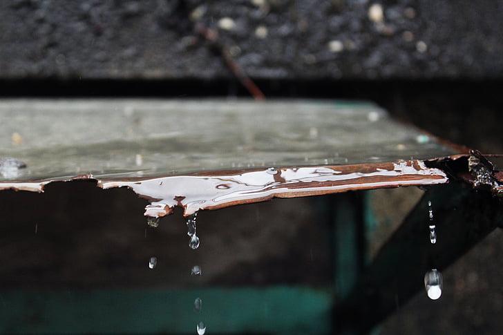 βρέχει, βροχή, σταγόνες βροχής, σταγονίδια νερού