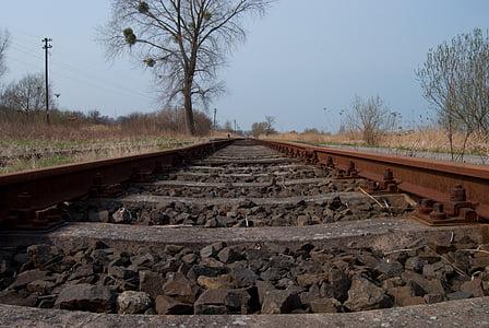 järnvägsspåren, järnväg, sliprar, järnvägsspår, transport, stål, tåg