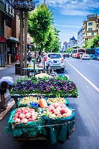 tänava vaade, Shenyang, humanitaarteadused, turu, tänava turul