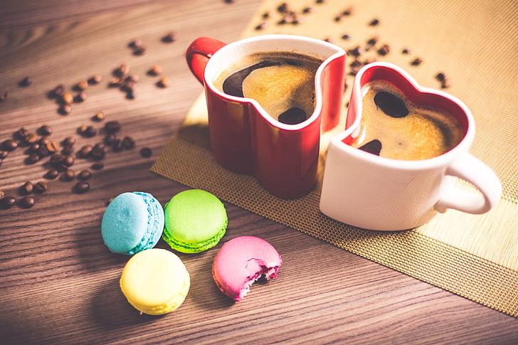 crna kava, Krupni plan, kava, zrna kave, boja, šarene, šareni