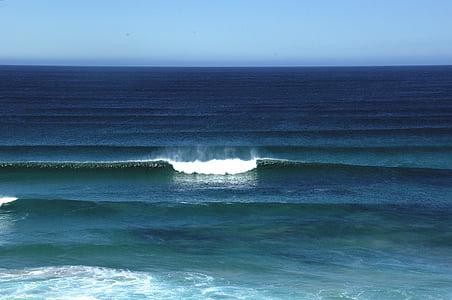 navegar per, trencar el gel, oceà, ones, marí, surf, Mar