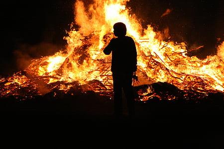foc de Pasqua, foc, flama, Setmana Santa, foguera, foc de fusta, incendi