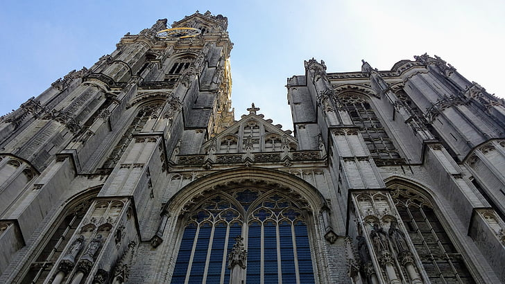 cathedral, antwerp, building, architecture, historic building, city, historic buildings