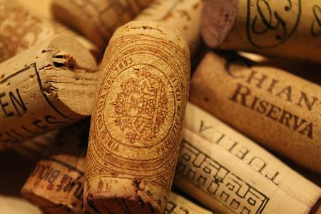 veini, Cork, pudel, jook, klaaspudel, Stock, sulgemised