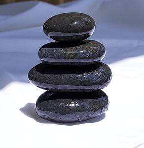 taşlar, Feng shui, nehir taşları, siyah, denge, çakıl taşı, taş - nesne
