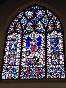 l'església, finestra de l'església, cristiana, religiosos, Jesús, Crist, cristianisme
