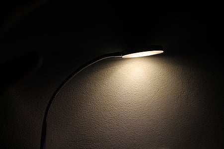 lamp, light, bulb, wall, dark, night, illuminated