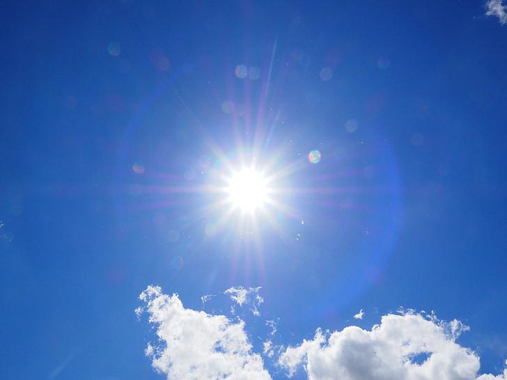 oblaci, nebo, plava, bijeli, ljetni dan, sunčan dan, sunčano