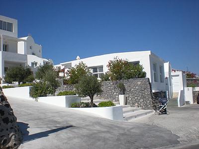 Santorini, Grčki otok, Grčka, marinac, Caldera, Prikaz ulice, Stambena kuća