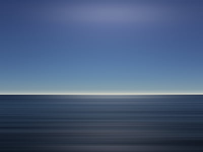 sea, ocean, blue, water, horizon, sky, nature