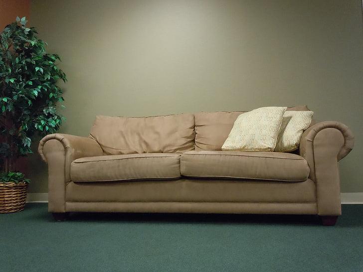 sofaen, sæde, slappe af, Velkommen, møbler