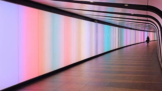 abstraktne, Lennujaama, arhitektuur, hoone, äri, Värviline, koridori