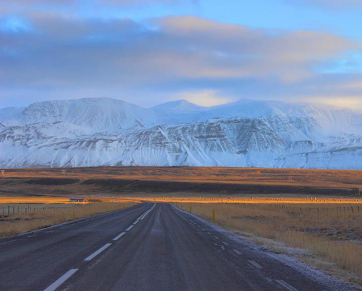 đường, đường cao tốc, dãy núi, nhựa đường, đi du lịch, cách, giao thông vận tải