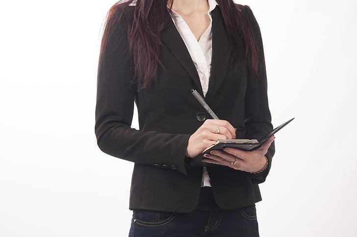 Business, sekretær, Manager, planer, å skrive, ledelse, Ordne