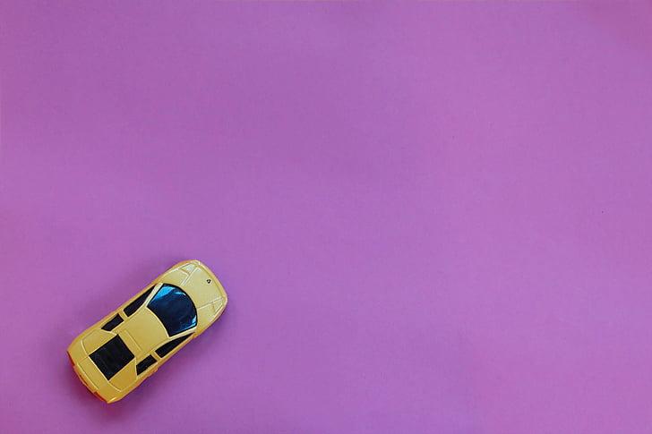 yellow, sports, toy, car, pink, panel, Lamborghini