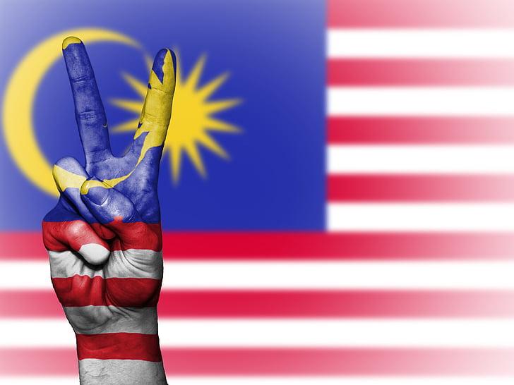 Malàisia, Pau, mà, nació, fons, Banner, colors