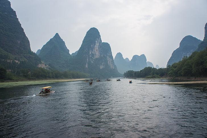 Chiny, giulin, Yangshuo, li River, Guilin, Guangxi Zhuang Region Autonomiczny - Chiny, Kras formacji