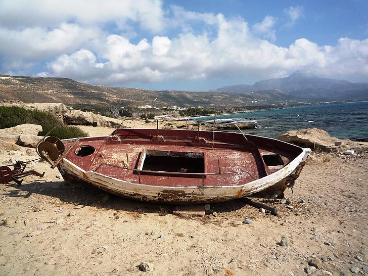otok, Kreta, sredozemski, Navtična plovila, morje, Beach, obale