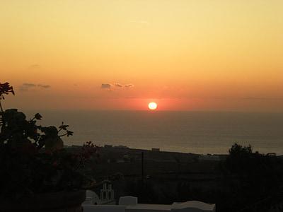 Santorini, Grčki otok, Grčka, zalazak sunca