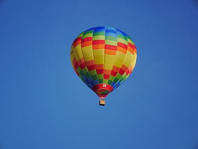 ballon, air chaud, Sky, Azure, bleu, goutte de pluie, image de fond