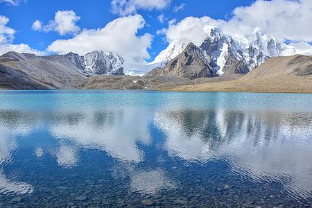 kalla, sjön, landskap, Mountain, naturen, Utomhus, natursköna