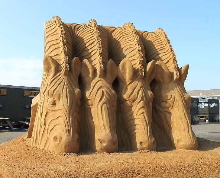 sand, sand sculpture, sculpture, denmark, danish, hvide sande, holiday