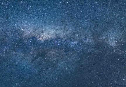 cosmos, Via Làctia, natue, nit, cel, estrelles