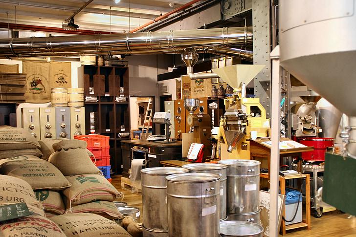 coffee roasting, bags, coffee bags, coffee, hamburg, manufactory, coffee bag