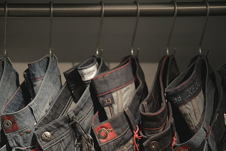 牛仔裤, 购物, 布, 纹理, 时尚