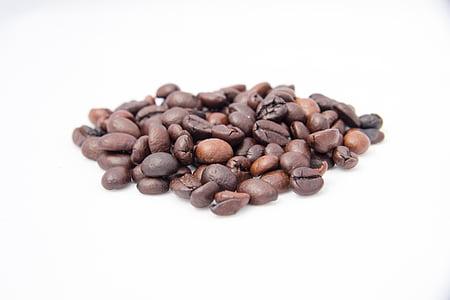 커피, 커피 콩, 볶은 커피, 곡물, 튀김, 카페인, arabica