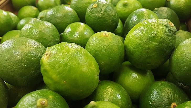 limesa, zelena, kiselo, citrusa, voće, hrana, trgovina