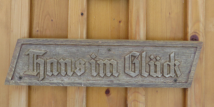 wooden sign, fairy tales, hans in the fortune