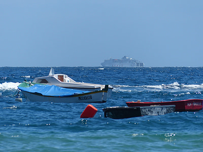båtar, hamn, Anchorage, havet, Ocean, kryssningsfartyg