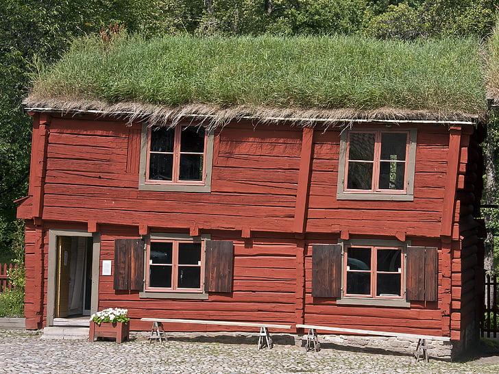 dům, Domů Návod k obsluze, Došková střecha, tráva, unikátní, Architektura, mimo