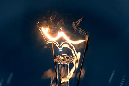 glödlampa, elektricitet, lampan, ljus, energi