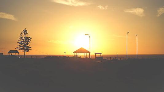 Foto, hus, Towers, soluppgång, solnedgång, skymning, Sky
