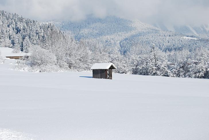 mökki, talvet, lumi, harjoitukset, Luonto, talvimaisema, luminen maisema