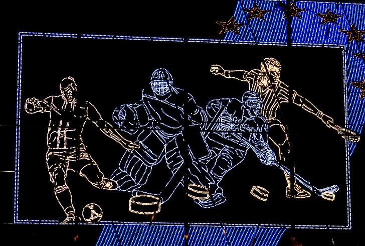 Billboard, light emitting diodes lysemitterende, sport, Ishockey