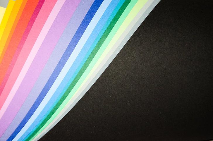 papper, färgade, skärmen, bakgrunden, färgglada, färg, färgen på den
