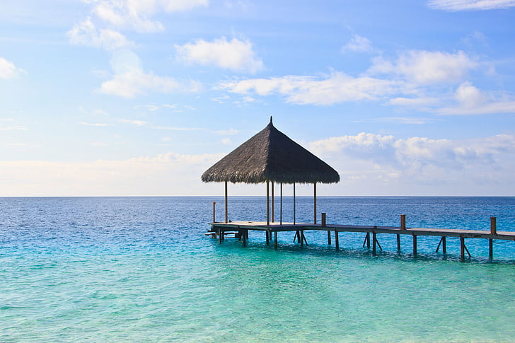 ūdens, Maldīvija, daba, eksotiski, rifa, atpūsties, atpūta