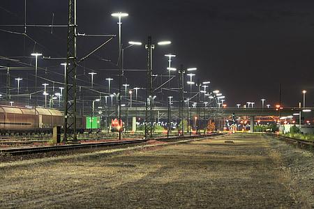 goods station, train, seemed, gleise, railway tracks, rail traffic, railway