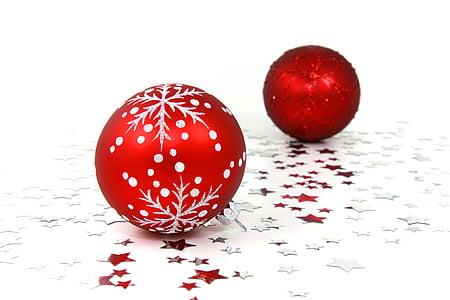 palle, Bagattelle, celebrazione, Natale, decorazione, ornamento, dicembre