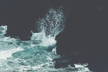 Mar, esquitxades, oceà, l'aigua, Mar oceà, Roca, moviment