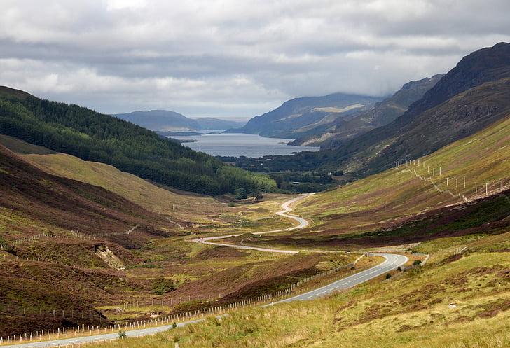 Road, maaelu, maastik, taevas Isle, Šotimaa