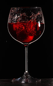 βουτιά, κρασί, ποτό, υγρό, γυαλί, κόκκινο, ποτήρι κρασιού