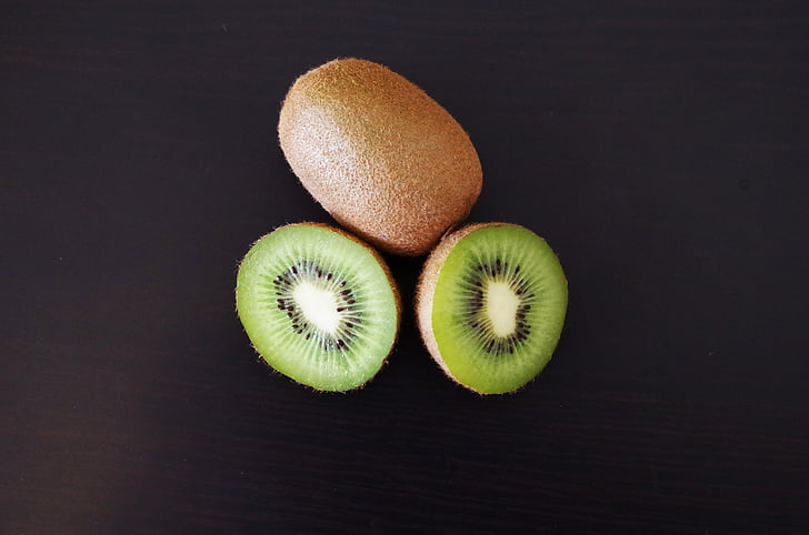 Kiwi, frugt, grøn, sund, cut