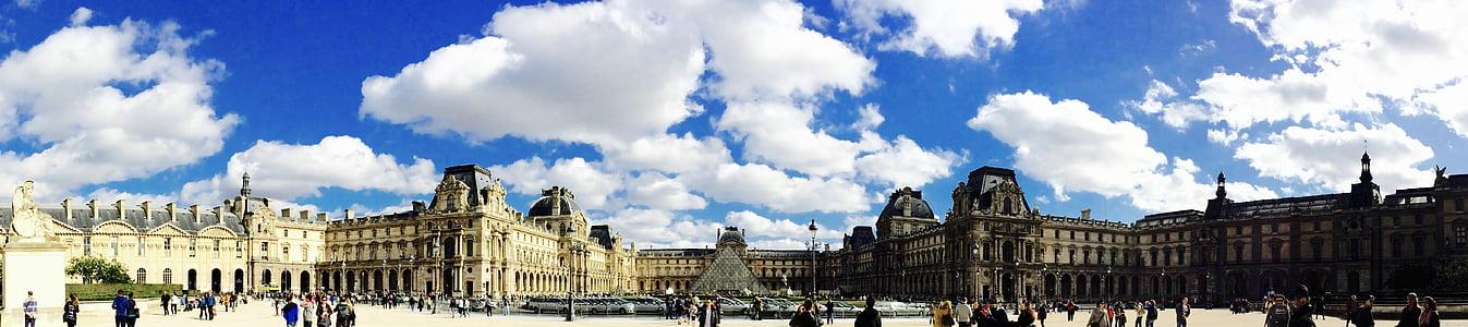 hoonete, linnaruumi, Le Louvre, vana, Panorama, Pariis, turismimagnet