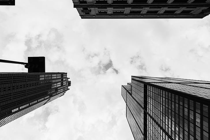 buildings, towers, high rises, architecture, city, urban, sky